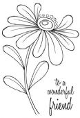 Woodware - Whimsical Flower – Alice - Clear Magic Single Stamp - JGS571